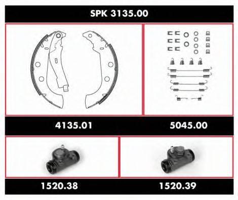 WOKING SPK313500 Комплект тормозов, барабанный тормозной механизм