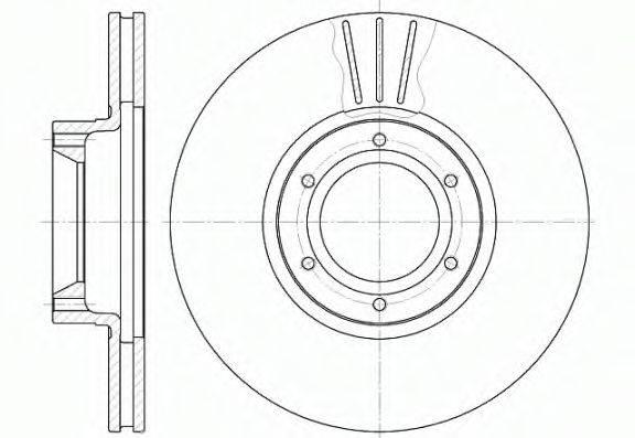 WOKING D656710 Тормозной диск