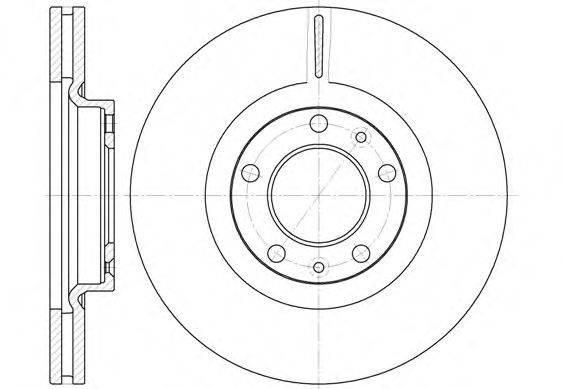 WOKING D669310 Тормозной диск