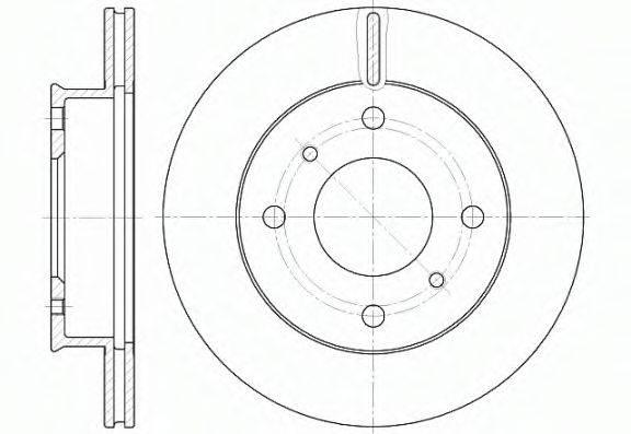 WOKING D6124110 Тормозной диск