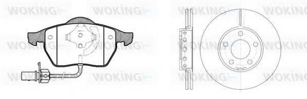 WOKING 8290300 Комплект тормозов, дисковый тормозной механизм