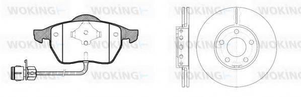 WOKING 8290301 Комплект тормозов, дисковый тормозной механизм