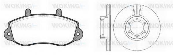 WOKING 8777300 Комплект тормозов, дисковый тормозной механизм