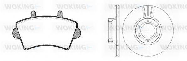 WOKING 8919300 Комплект тормозов, дисковый тормозной механизм