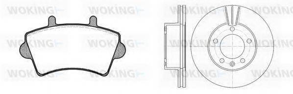 WOKING 8919301 Комплект тормозов, дисковый тормозной механизм