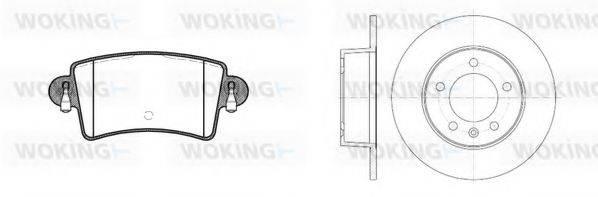 WOKING 8933300 Комплект тормозов, дисковый тормозной механизм