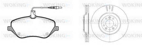 WOKING 81001300 Комплект тормозов, дисковый тормозной механизм