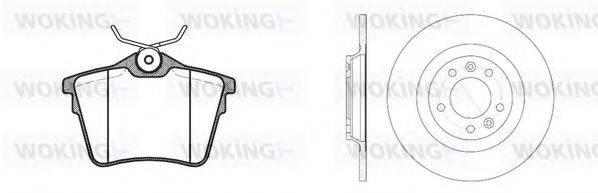 WOKING 81003300 Комплект тормозов, дисковый тормозной механизм