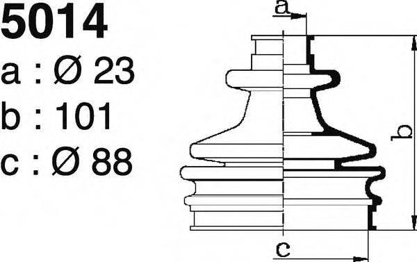 DEPA 5014 Комплект пылника, приводной вал