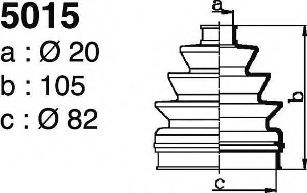 DEPA 5015 Комплект пылника, приводной вал