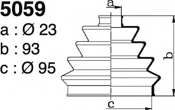DEPA 5059 Комплект пылника, приводной вал