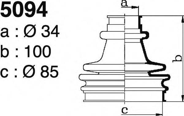DEPA 5094 Комплект пылника, приводной вал