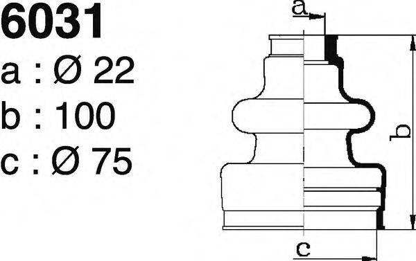 DEPA 6031 Комплект пылника, приводной вал