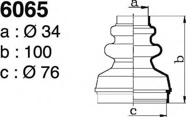 DEPA 6065 Комплект пылника, приводной вал