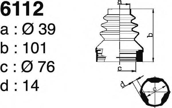 DEPA 6112 Комплект пылника, приводной вал