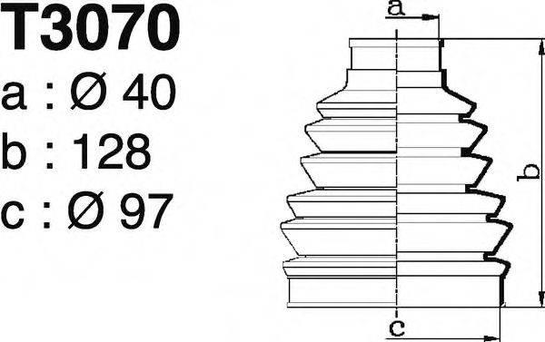 DEPA T3070 Комплект пылника, приводной вал