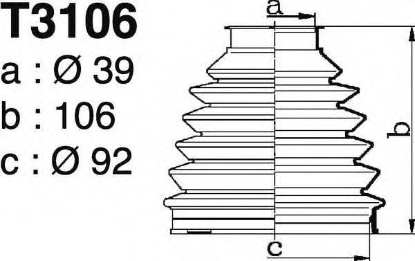 DEPA T3106 Комплект пылника, приводной вал