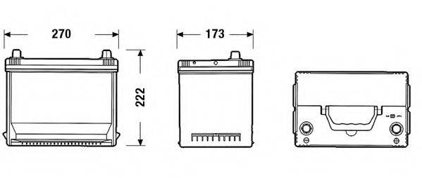 SONNAK SA754 Стартерная аккумуляторная батарея; Стартерная аккумуляторная батарея
