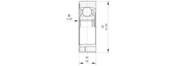 OPEN PARTS CVJ541120 Шарнирный комплект, приводной вал