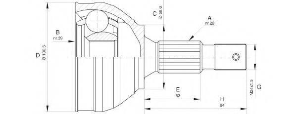 OPEN PARTS CVJ565310 Шарнирный комплект, приводной вал