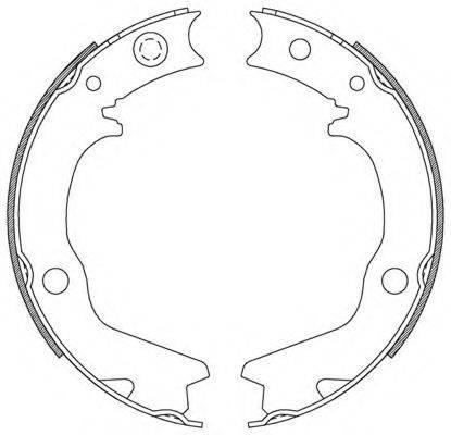 OPEN PARTS BSA218500 Комплект тормозных колодок