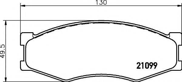 TEXTAR 2109901 Комплект тормозных колодок, дисковый тормоз