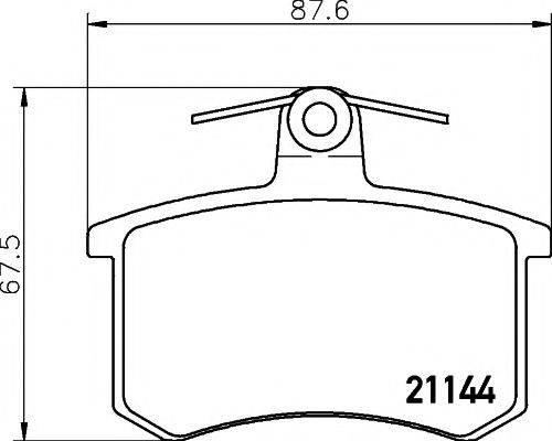 TEXTAR 2114401 Комплект тормозных колодок, дисковый тормоз