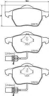 TEXTAR 2301802 Комплект тормозных колодок, дисковый тормоз