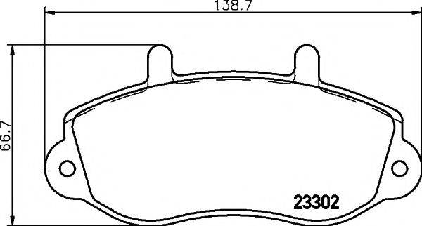 TEXTAR 2330201 Комплект тормозных колодок, дисковый тормоз