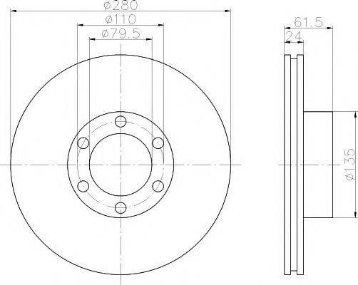 TEXTAR 92097700 Тормозной диск