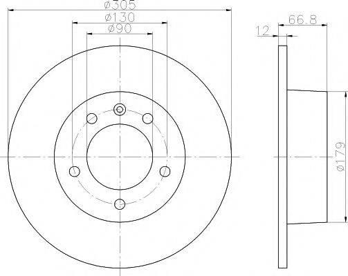 TEXTAR 92111203 Тормозной диск