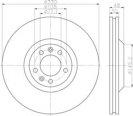 TEXTAR 92129503 Тормозной диск
