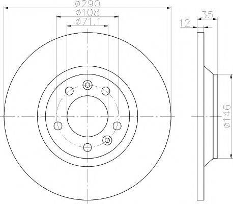 TEXTAR 92129603 Тормозной диск