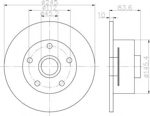 TEXTAR 92154303 Тормозной диск