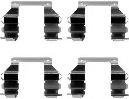 TEXTAR 82035100 Комплектующие, колодки дискового тормоза