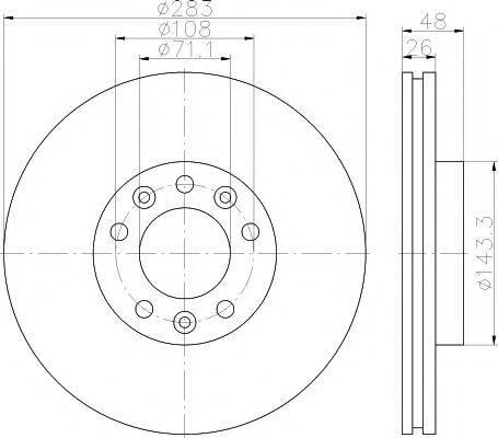 TEXTAR 92232503 Тормозной диск