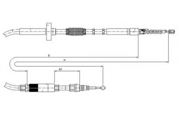 TEXTAR 44006000 Трос, стояночная тормозная система