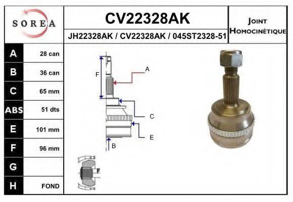 EAI CV22328AK Шарнирный комплект, приводной вал
