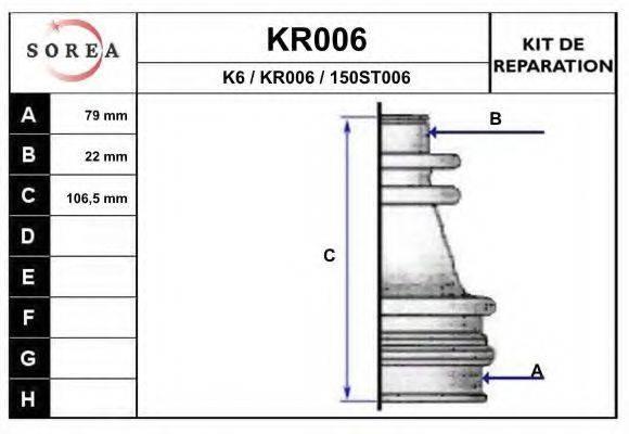 EAI KR006 Комплект пылника, приводной вал