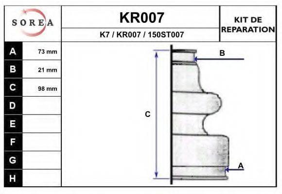 EAI KR007 Комплект пылника, приводной вал
