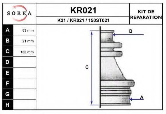 EAI KR021 Комплект пылника, приводной вал