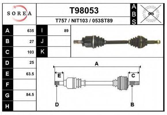 EAI T98053 Приводной вал