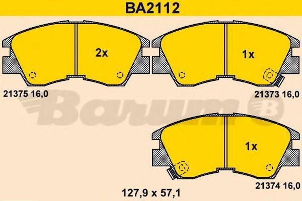 BARUM BA2112 Комплект тормозных колодок, дисковый тормоз