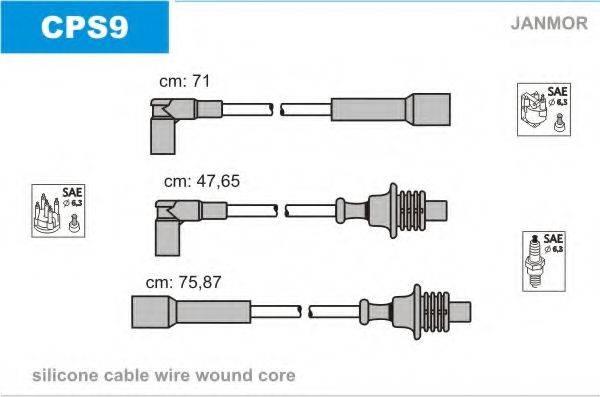 JANMOR CPS9 Комплект проводов зажигания