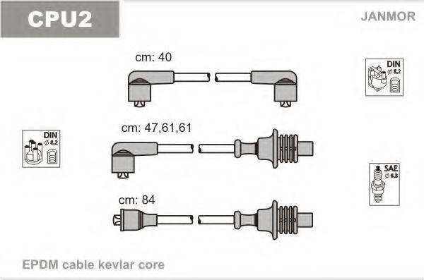 JANMOR CPU2 Комплект проводов зажигания