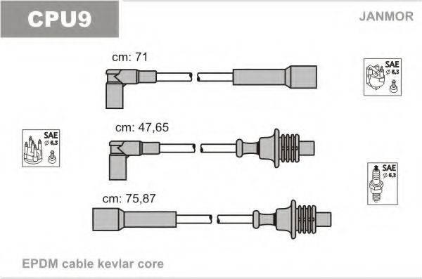 JANMOR CPU9 Комплект проводов зажигания