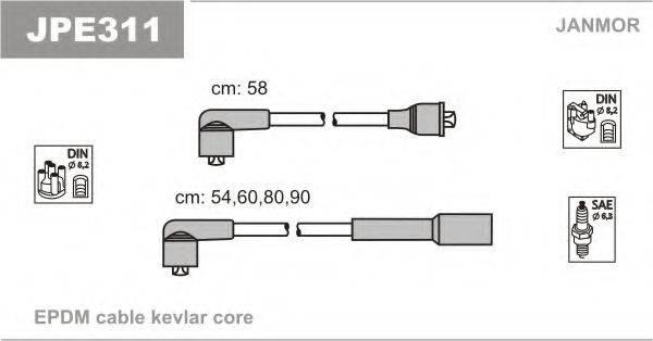 JANMOR JPE311 Комплект проводов зажигания