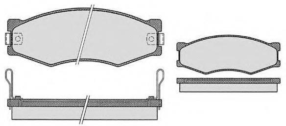 RAICAM RA05140 Комплект тормозных колодок, дисковый тормоз