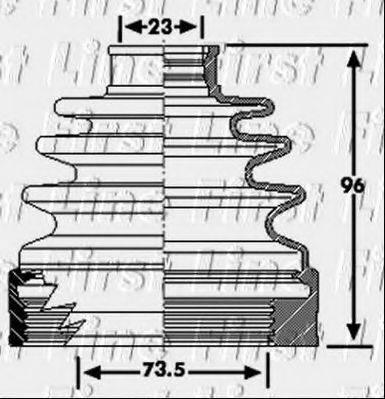 FIRST LINE FCB6222 Пыльник, приводной вал