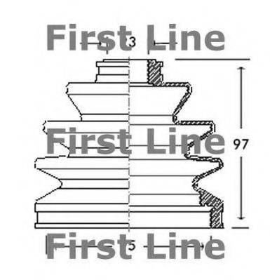 FIRST LINE FCB2063 Пыльник, приводной вал